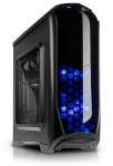 ATX-Midi Tower Aviator schwarz/blau, Window