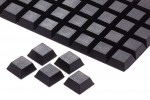 Gummifuss, schwarz, 20x20mm, ca. 8mm hoch