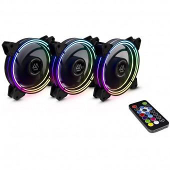RGB-Set 3x 120mm ALSEYE HALO, inkl. Fernbedienung