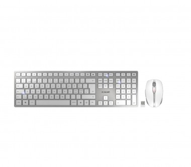 Cherry DW 9000 Slim - Maus + Tastatur, kabellos, silber