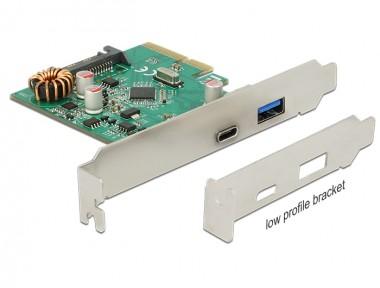 USB3.1 2-fach Erweiterung Gen2, Typ-A + Typ-C (bis 10Gbps), PCIe Steckkarte