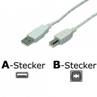 USB2.0 Anschlußkabel A->B, 1.8m