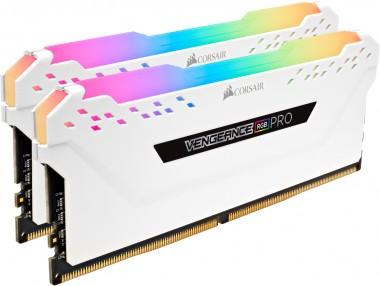 Corsair Vengeance RGB Pro 16GB Kit, DDR4-3200 MHz (2x8GB), weiß