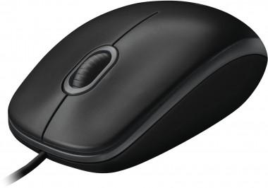 Logitech Optical Maus schwarz, USB