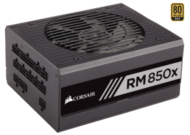 Corsair RMx Series 850W, 80+ Gold, Modular, semi-passiv