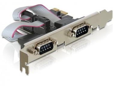 Seriell 2-fach Erweiterung, PCIe Steckkarte