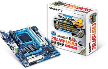 Gigabyte GA-78LMT/USB3 Rev.6.0, AMD 760G, AM3+, mATX