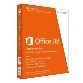 Microsoft Office 365 Home, Abonnement-Lizenz (5 PCs)