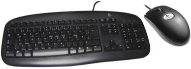 Logitech Maus & Tastatur, schwarz