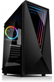 ATX-Midi Void, LED RGB, Tempered Glas