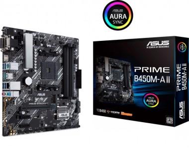 ASUS PRIME B450M-A II, AMD B450, AM4, mATX
