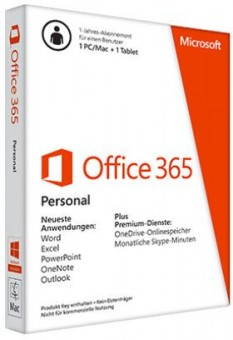 Microsoft Office 365 Personal, Abonnement-Lizenz (1 PC)