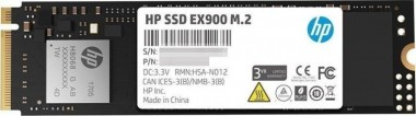 HP EX900 M.2 500 GB, NVMe PCIe SSD