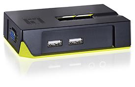 LevelOne ViewCon KVM-0222 - KVM-Switch - 2 Anschlüsse - Desktop