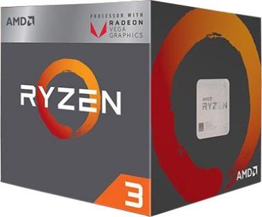 AMD Ryzen 3 2200G, 4x 3.5 GHz (Vega 8 Grafik)