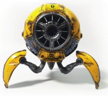 Zoeao GravaStar H Bluetooth Speaker, war-damaged yellow