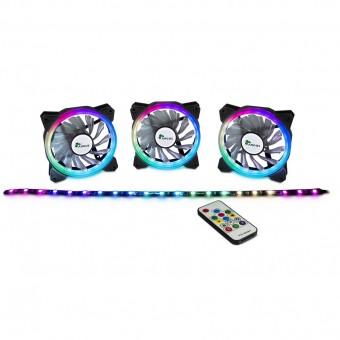 Argus RGB-Lüfter Set, inkl. Fernbedienung, RS-04