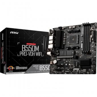 MSI B550M PRO-VDH WIFI, AMD B550, AM4, mATX, WLAN