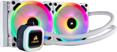 Corsair Hydro Series H100i RGB Platinum SE, Wasserkühlung (240mm) weiß