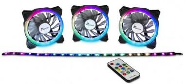 RGB-Set 3x 120mm, inkl. Fernbedienung