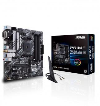 ASUS PRIME B550M-A WIFI, AMD B550, AM4, mATX, WLAN