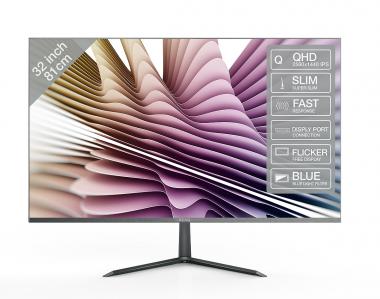 31.5 Zoll PEAQ PMO S320 5ms (80cm), IPS, DP, HDMI, VGA