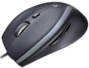 Logitech M500 Maus - USB - Anthrazit/schwarz