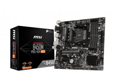 MSI B450M PRO-VDH MAX, AMD B450, AM4, mATX