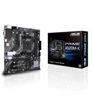 ASUS PRIME A520M-K, AMD A520, AM4, mATX