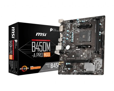 MSI B450M-A PRO MAX, AMD B450, AM4, mATX