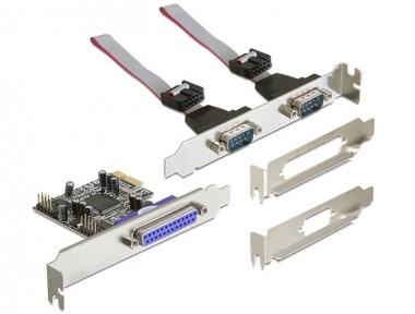 Seriell 2-fach + Parallel Erweiterung, PCIe Steckkarte
