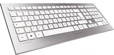 Cherry STRAIT 3.0 Tastatur - silber/weiß