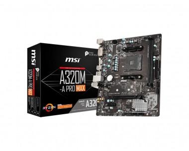 MSI A320M-A PRO MAX, AMD A320, AM4, mATX