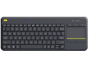 Logitech Wireless Touch K400 Plus - Tastatur - schwarz