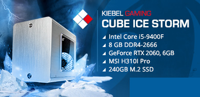 Mini-Serie Gaming PC Cube Ice Storm