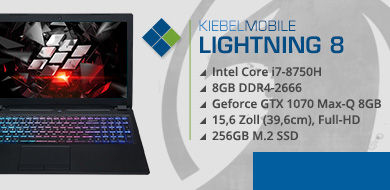 Gaming Laptop Lightning 8 - 1070 (15.6)