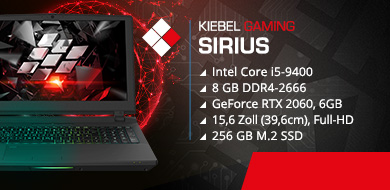 Gaming Laptop Sirius 9, RTX2060